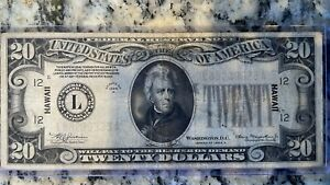 *ALTERED* 1934A $20 USA Silver Certificate Hawaii Overprint Ungraded