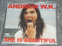 Andrew WK:  She is beautiful  CD Single   NM