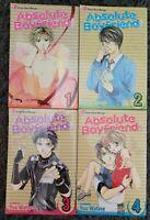 ABSOLUTE BOYFRIEND #1-4 COMPLETE SET SERIES MANGA LOT PAPERBACK 4 BOOKS