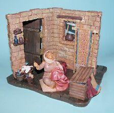 Fontanini Nativity #65012 Sewing Corner wSamantha NIB 2002 Club Set 5 in. series