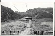 m980 ski tow,aspen ,colorado real photo postcard 1930s 40s era