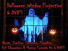 6 Dvds decoraciones de ventana de Halloween & Hologramas Proyector Fx