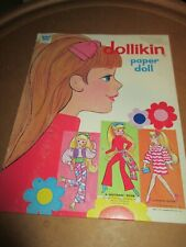 Vintage Paper Dolls~Whitman (Uneeda) Dollikin Doll & Clothes