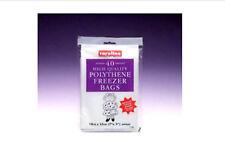 """Freezer Bags 40 High Quality Polythene Freezer Bags 7"""" x 9"""" By Caroline"""