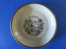 "c.1950 Vintage ~ BILSTON Marked ~ 4"" Mint Candy Dish Plate w/ Decorative Scene"