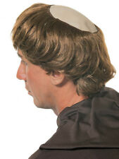Fancy Dress Monks Wig Bald Patch Holy Father Bowl Cut Hair Stag Costume Extra