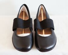 Women Camper Ballerina Right Nina, black leather, size 9, new, flat casual shoes