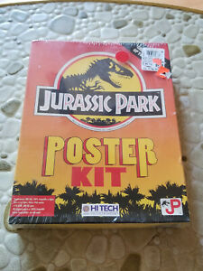 Jurassic Park Poster Kit PC Program Disk With Manual And Box - Never Opened