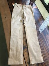 Wrangler Womens 100% Suede Leather FitPants Lined New 18 1/2 X 34