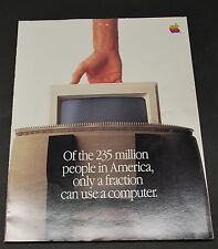 Original Macintosh Computer Brochure  Steve Jobs Team Pic 1984   Ships Worldwide