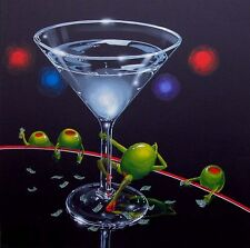 "**Michael Godard-""DIRTY MARTINI""-Playboy-Dancing-Las Vegas-Art-SHOW SIGNED-RARE*"
