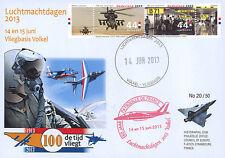 """PAF13-8T2 FDC PAYS-BAS """"60 ans Patrouille de France / ALPHAJET & MIRAGE"""" 2013"""