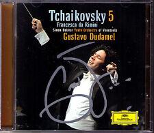 Gustavo DUDAMEL Signiert TCHAIKOVSKY Symphony No.5 Francesca da Rimini CD