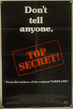 TOP SECRET!  FF ORIG 1SH MOVIE POSTER VAL KILMER PETER CUSHING COMEDY (1984)