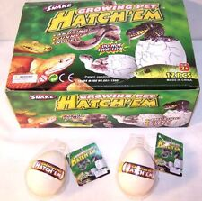 4 SNAKE HATCHING EGGS reptiles growing magic tricks grow magic egg new novelty