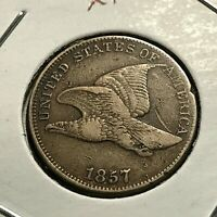 1857 FLYING EAGLE CENT HIGH GRADE COIN
