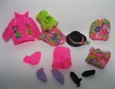"NEW vtg 1991 7"" Barbie Sister Stacie Doll CLOTHES/SHOES-100% complet pink floral"