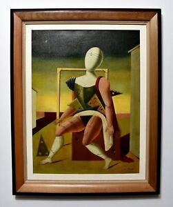Giorgio De Chirico, painting surrealism style, signed