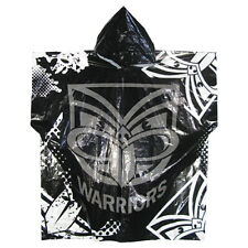 Zealand Warriors Official NRL Full Print Logo Plastic Poncho With Hood