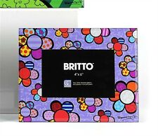 ROMERO BRITTO GLASS PHOTO FRAME WITH FLOWERS