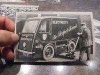 Création amateur sur carte Postale Voiture Electrique Detroit Electric Car Corp