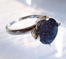 mk-schmuck Ring 925er Silber, rhodiniert, BLAUFLUSS, diverse Grössen