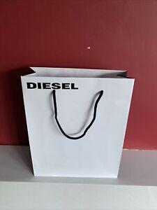 Diesel White gift bag Hard Paper Height 32cm, Width 26cm NEW!!