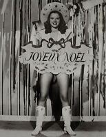 Diana Dors Press Photo 1947 Merry Christmas Joyeux Noel Pinup Stamped Snipe VTG