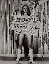 Diana Dors Press Photo 1947 Merry Christmas Joyeux Noel Pinup Stamped Snipe VTG