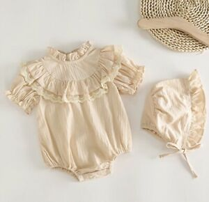 Baby Ruffle Lace Romper Set Age 18-24 Months