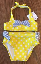 Janie And Jack 2 Piece Polka Dots And Stripes Swimsuit 6-12 Months