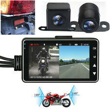"3""  LCD screen Dual Camera Video Recorder DVR Motorcycle Car Biker Waterproof"