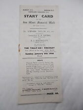 The Start Card For The Jim Wood Memorial Walk For Club Cyclists 6th Jan. 1946