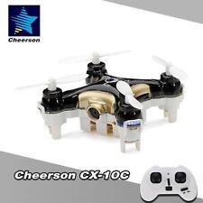 Hot Original Cheerson Cx-10C 2.4G 6-Axis Rtf Mini Drone W/ 0.3Mp Camera Black #M