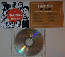 cd: AS MAXIMAS DE NOVELA - ORQUESTRA NAMORADOS DA TV - BRAZIL TV SOUNDTRACK