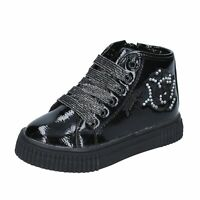 scarpe bambina FIORUCCI stivaletti nero vernice BM418