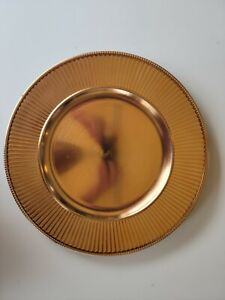 Darice Gold Banded Charger Plates - New - qty. 3
