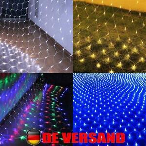 LED Lichterkette Lichternetz Lichtervorhang Innen Außen Weihnachtsbeleuchtung DE
