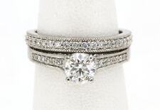 14K White Gold & Diamond 2 Ring Wedding Set  1 CARAT T.W. RETAIL PRICE  $4,500