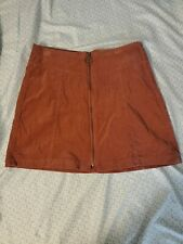 Forever 21 Corduroy Rust Colored Skirt