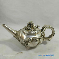 Chinese antique Tibetan silver hand-carved Two magpies\u2014qianlong mark