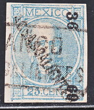MEX 1868 25c #61 AGUAS 36-69 W/RETOUCHES  SK#14  (H551)