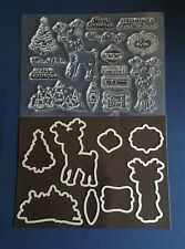 Deer Christmas Craft Stamp & Die Set for Card making, Scrapbooking etc.