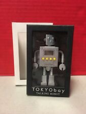 Tokyobay Talking Robot Digital Alarm Clock Silver