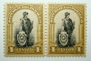 2 1811-1911 Paraguay 1 Centavo Stamps