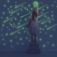 216-432pcs 3D Stars Glow In The Dark Luminous Fluorescent Stickers Wall Plastic