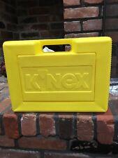 K'NEX Yellow Plastic Carrying Case Storage Box Only 15 x 12 x 5
