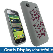 Weiß Silikon Tasche für Samsung Galaxy S i9000 Hülle Case Skin Etui