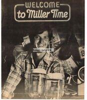1982 MILLER HIGH LIFE BEER Welcome To Miller Time Man Frosty Mugs Vtg Print Ad
