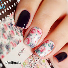BORN PRETTY Nail Art Water Decals Flower Leaves Stickers 2 Patterns/Sheet BP-W03